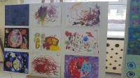 Wystawa plastyczna w Gimnazjum nr 2. Zdjęcia wspólne 07.12.2016
