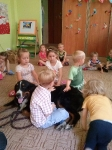 Zajęcia edukacyjne z psem. Grupa Tygryski i Misiaczki. 18.07.2014